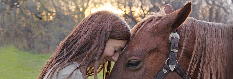 Mädchen+Pferdekopf